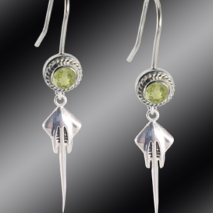 Stingray french wire crystal earrings