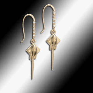 Corvette Stingray Diamond Earrings - Kims Gold Dust discounted clearance jewelry